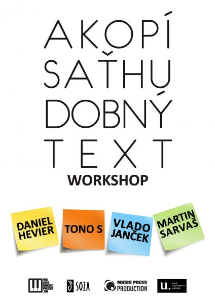 Workshop: ako pisat hudobny text