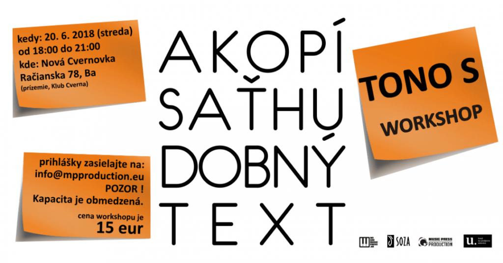 Ako písať hudobný text - Tono Suchota